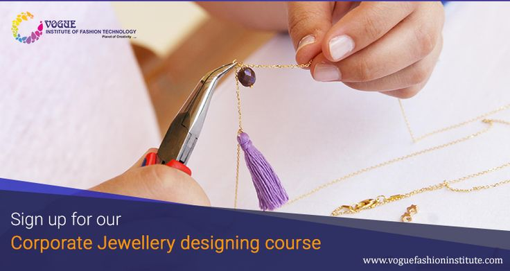 Vogue Institute of Fashion Technology offers jewellery designing courses for corporates. If you're looking to have a second job or simply pursue your interests in diamond grading and jewellery making, these part-time courses will be perfect for you.  For more details visit @ https://goo.gl/kNyL7V  #VIFT | #MaterialsDesignCollege  | #JewelleryDesigning | #DesignCourse |#DesignCollege | #JewelleryMaking #CorporatesTraining