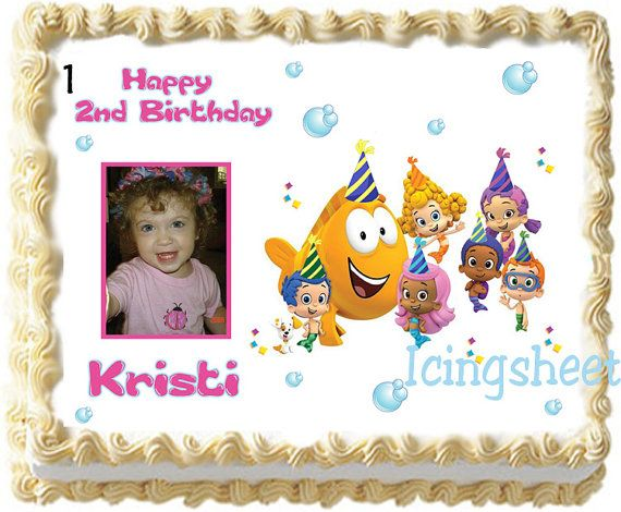 Bubble Guppies Edible icing photo birthday cake by IcingSheets