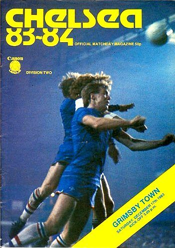 Chelsea 2 Grimsby Town 3 in Nov 1983 at Stamford Bridge. The programme cover #Div2