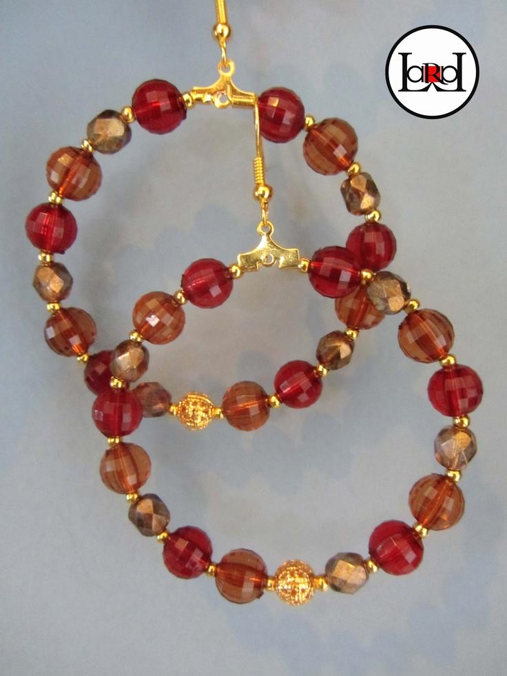 LARA ART Red/Hazel earrings
