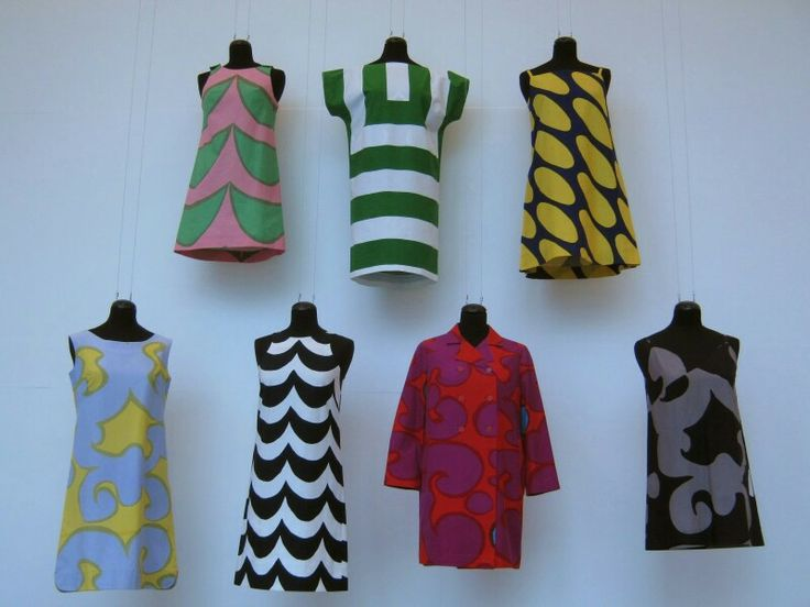Marimekko jurken eind jaren 70 begin jaren 80.