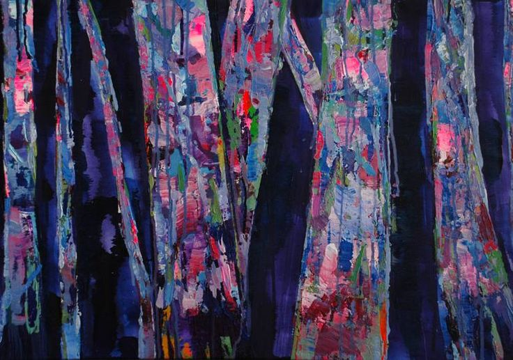 "Saatchi Art Artist Lengl Orsolya; Painting, ""Birch tree"" #art"