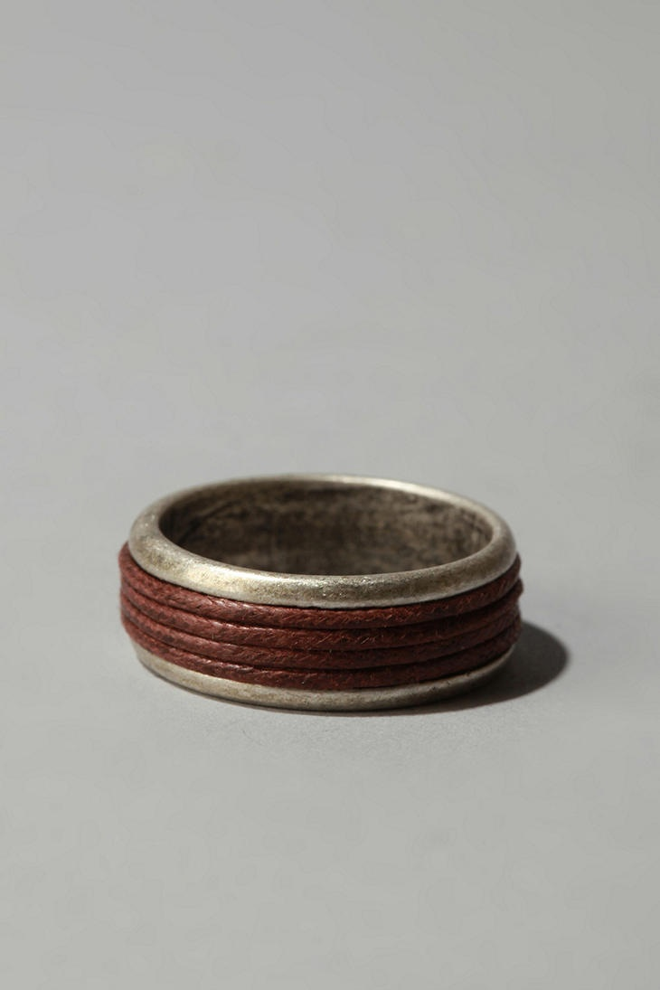 Metal And Leather Ring  #UrbanOutfitters