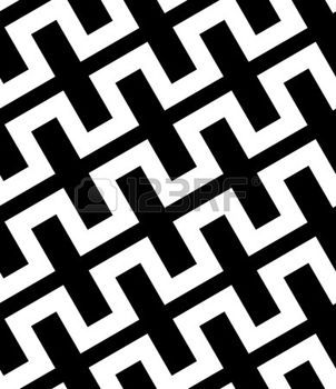 Abstract Black and White Simple Diagonal Square Zig Zag Vector Seamless Pattern photo