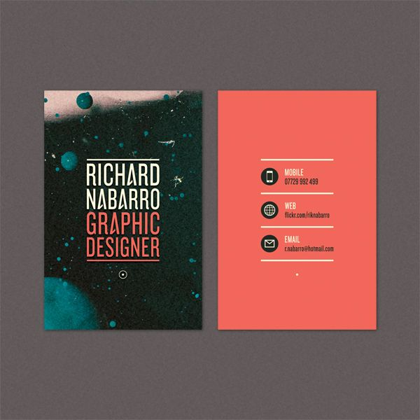 Business Card by Richard Nabarro, via Flickr. Great use of color. Made the typeface more intriguing my the repeating A that is different from the rest.