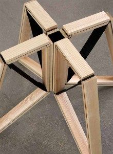 SPIN NEGATIVE SPACE Collapsible Stool Flatpack