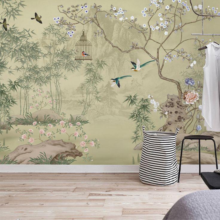 les 23 meilleures images du tableau papier peint d 39 artiste peinture asiatique les fleurs et. Black Bedroom Furniture Sets. Home Design Ideas
