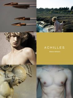 """greek mythology aesthetics → achilles """"Sing, goddess, of Achilles' ruinous anger Which brought ten thousand pains to the Achaeans, And cast the souls of many stalwart heroes To Hades, and their bodies to the dogs And birds of prey."""""""