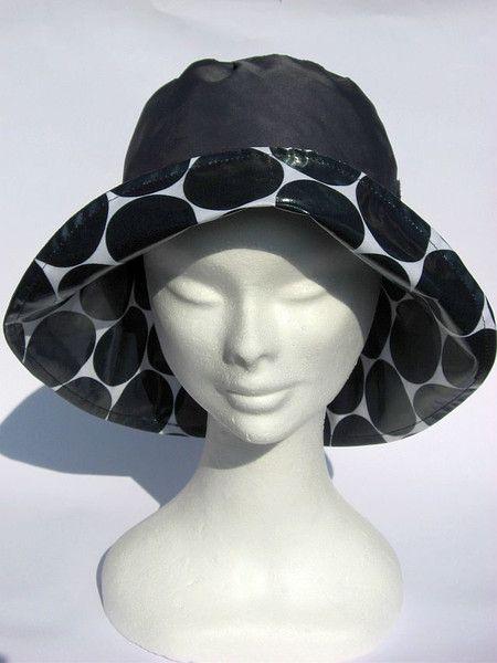Hüte - Regenhut grau schwarz - ein Designerstück von Janecolori bei DaWanda