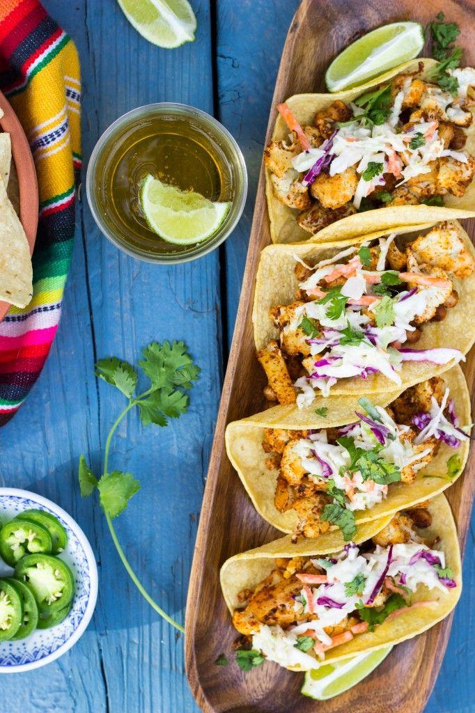 BBQ Cauliflower & Chickpea Tacos with a Creamy Lime Slaw-1228