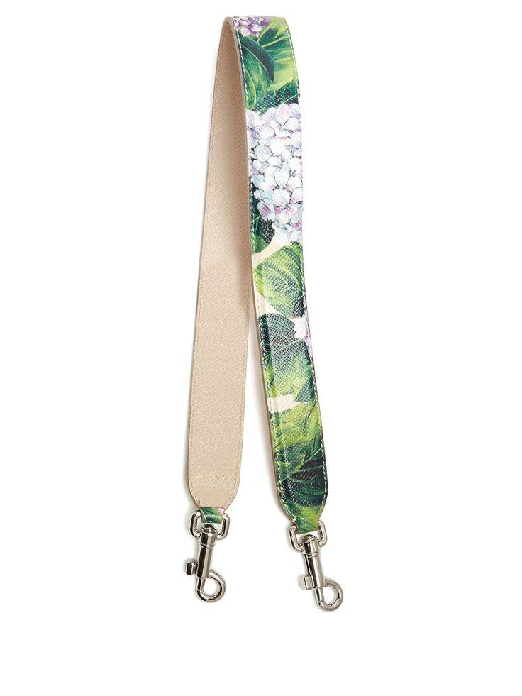 Hydrangea-print leather bag strap | Dolce & Gabbana | MATCHESFASHION.COM