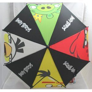Licensed Rovio Angry Birds Kids Handle Umbrella