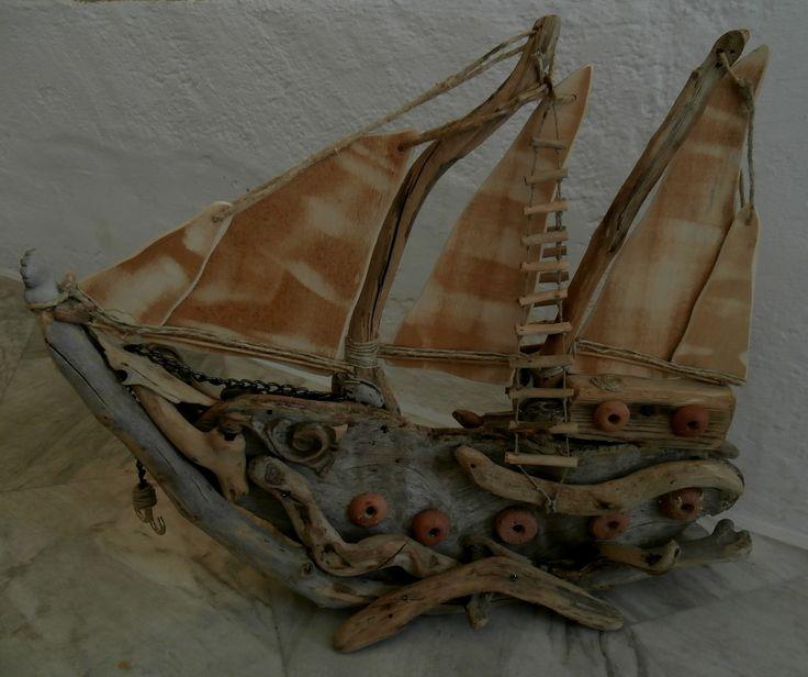 Driftwood boat.