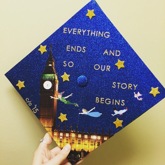 Peter Pan-inspired graduate cap.