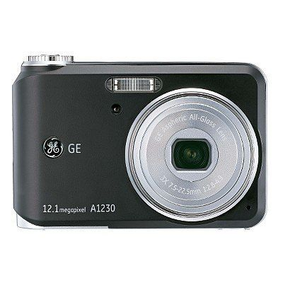 GE 12.1MP Digital Camera 3X Optical Zoom A1230 - Black by GE. $59.99. This powerful, 12.1-Megapixel camera from GE is big on features while staying easy on your budget. The GE A1230 comes with the features amateur photographers want most. The high-performance 2.5 in. LCD comes with the latest Auto Adjust Brightness technology. A comprehensive 12.1-megapixel resolution, 3x optical zoom and 4.5x digital zoom allow you to capture every detail. Featuring the latest GE 25mm slim ...