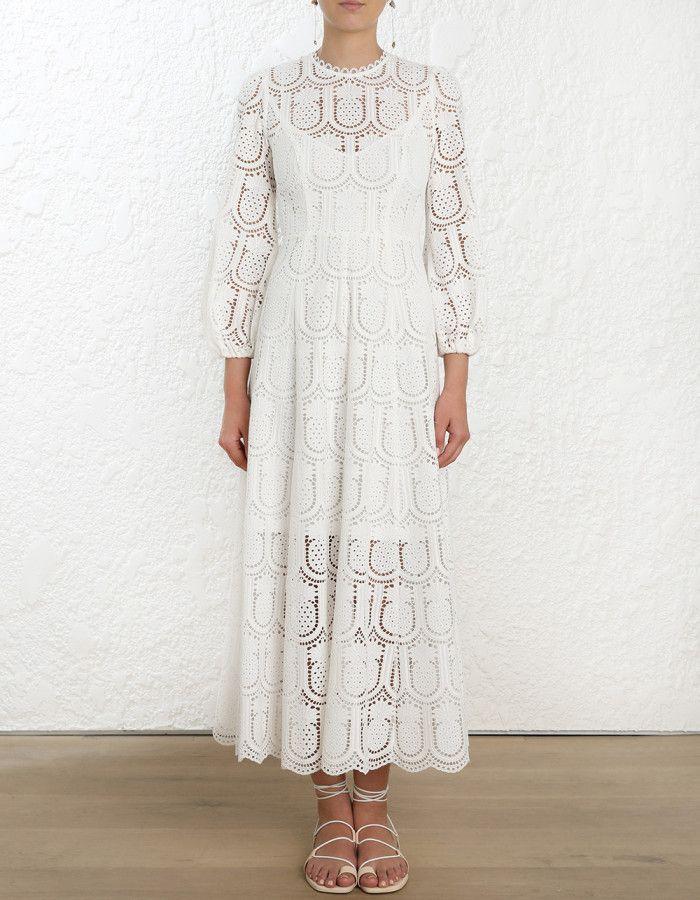 Zimmermann Wayfarer Embroidery Long Dress Model Image Fits True To Size Take Your Normal Size Our Model Is 5 9 5 178 C Womens Long Dresses Long Dress Dresses