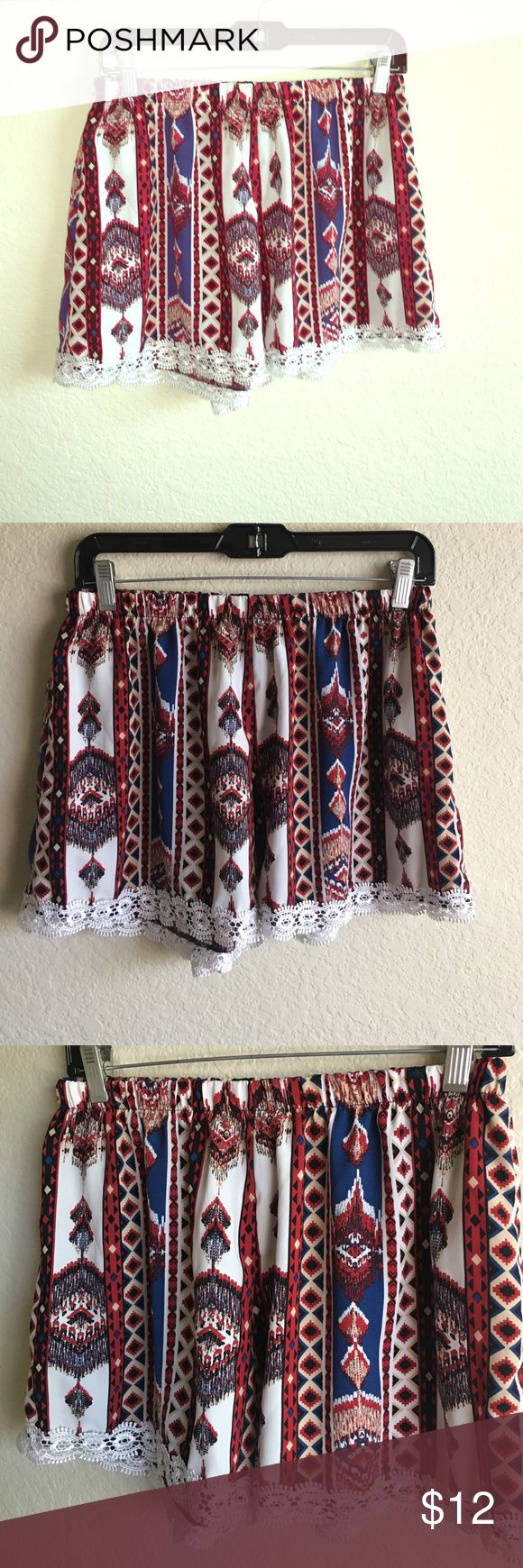 The cutest tribal shorts EVER?! Tribal shorts in great condition  Shorts