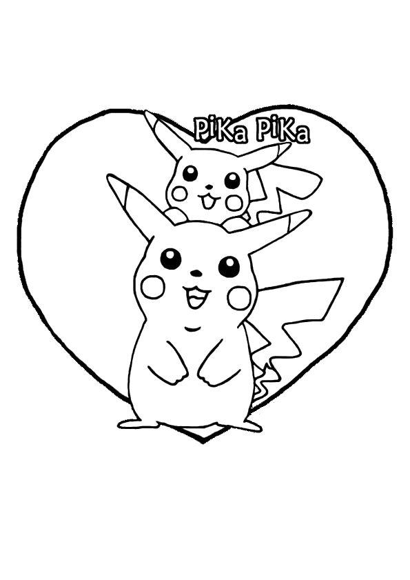 Les 25 meilleures id es de la cat gorie coloriage pokemon - Dessin pikachu mignon ...