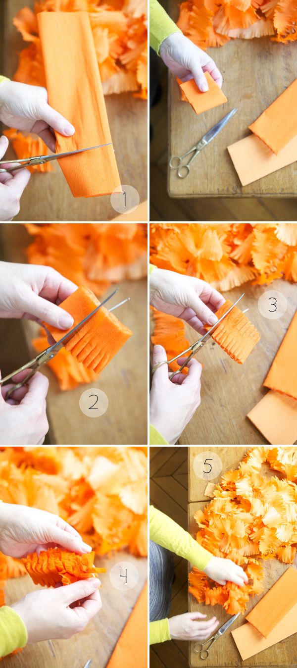 crepe paper fringey streamers DIY tutorial + source to buy