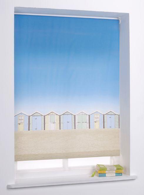 Beach Hut 4ft Roller Blind - Multicoloured.   eBay