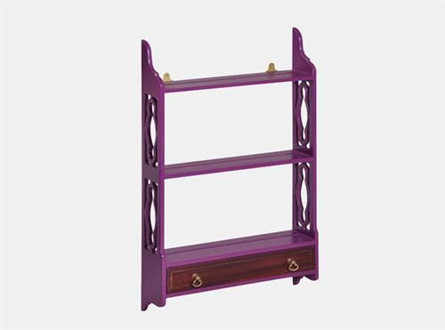 Lounge Hanging Shelf Small - Purple,  Measurements 780 x 170 x 900