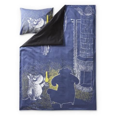 Moomin and Ancestor satin duvet cover set 150 x 210 cm by Finlayson