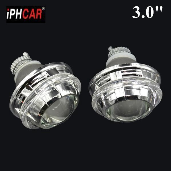 2pcs 3.0 inch H4Q5 Bi xenon Bixenon hid Projector lens metal holder D1S D2S D2H D3S D4S  hid xenon kit headlight car headlight