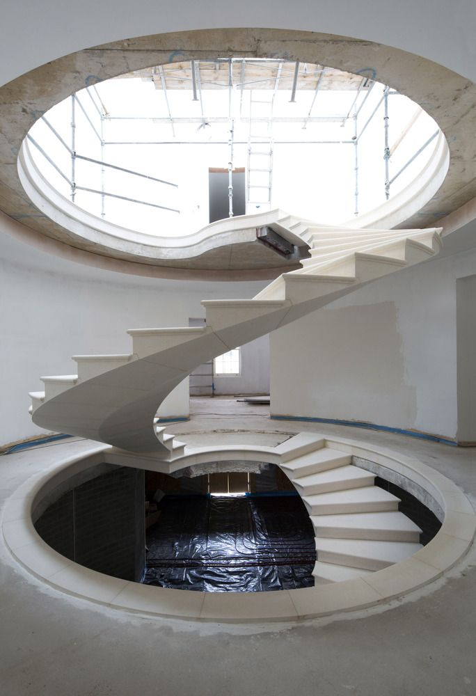 Gallery of See The Engineering Behind This Floating, Award-Winning Stone Helical Stair - 14