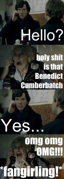 Even Grandma is a Benedict Cumberbatch Fangirl! | OMG Fangirling!!! | @malenti.tumblr.com