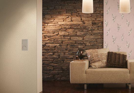 die 25 besten ideen zu tapete steinoptik auf pinterest. Black Bedroom Furniture Sets. Home Design Ideas