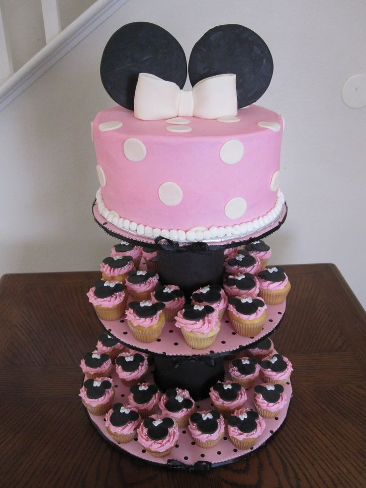 Ms. Cakes: Minnie Mouse Cake/Cupcakes
