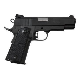 "Rock Island Armory 1911, 22TCM/9MM, 5"" Barrel, Alloy Frame, Parkerized Finish, Plastic Adjustable Sights, 17Rd, Convertible Kit for 9MM and 22TCM, Fired Case"