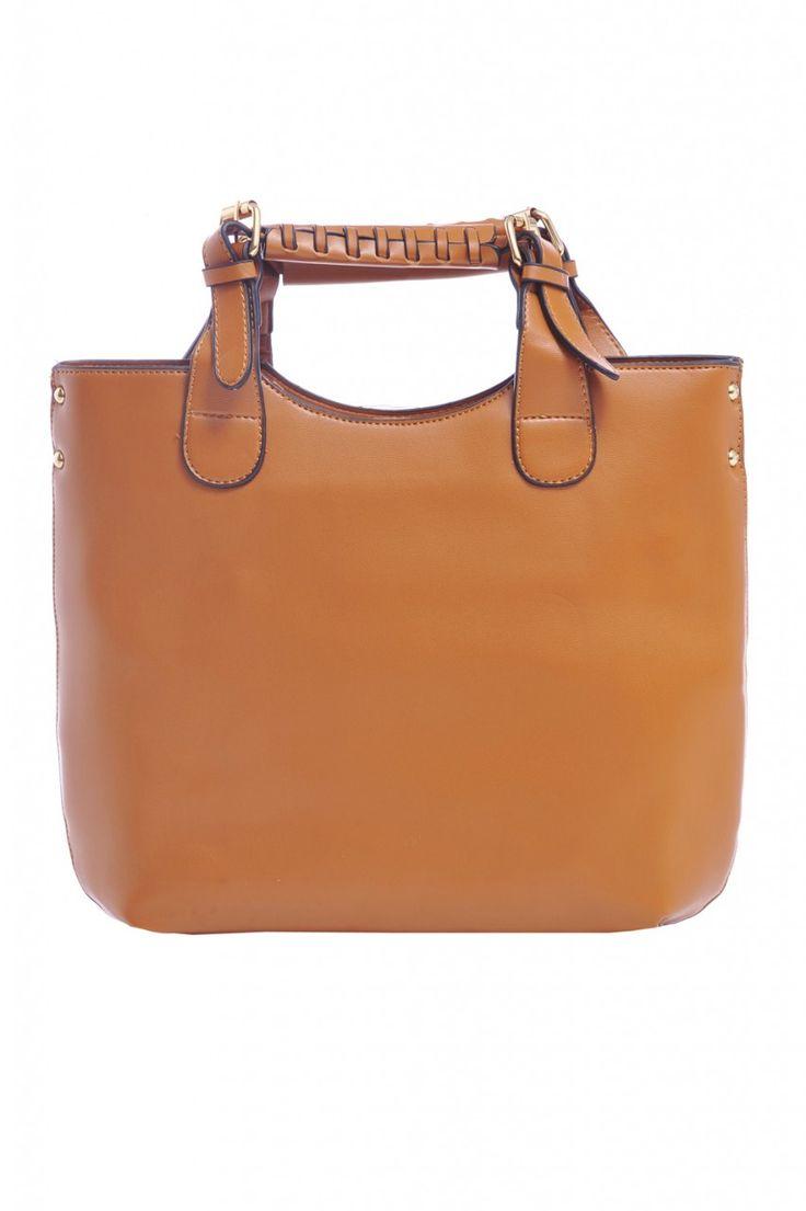 Stitch Handle Strap Bag - AX Paris
