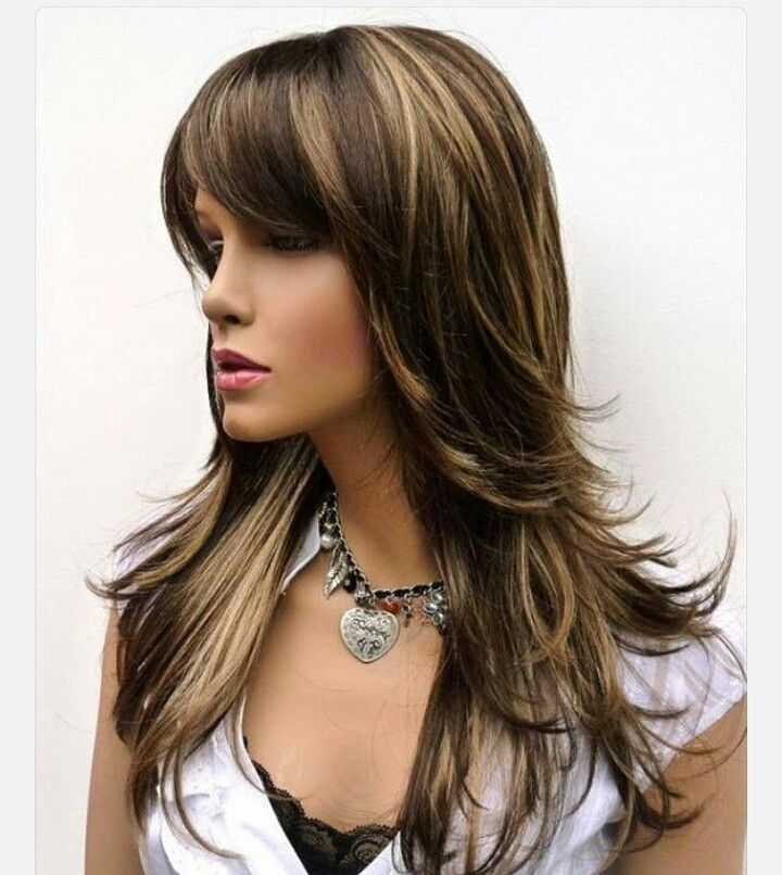 haircut wigs brown hair highlights 2122