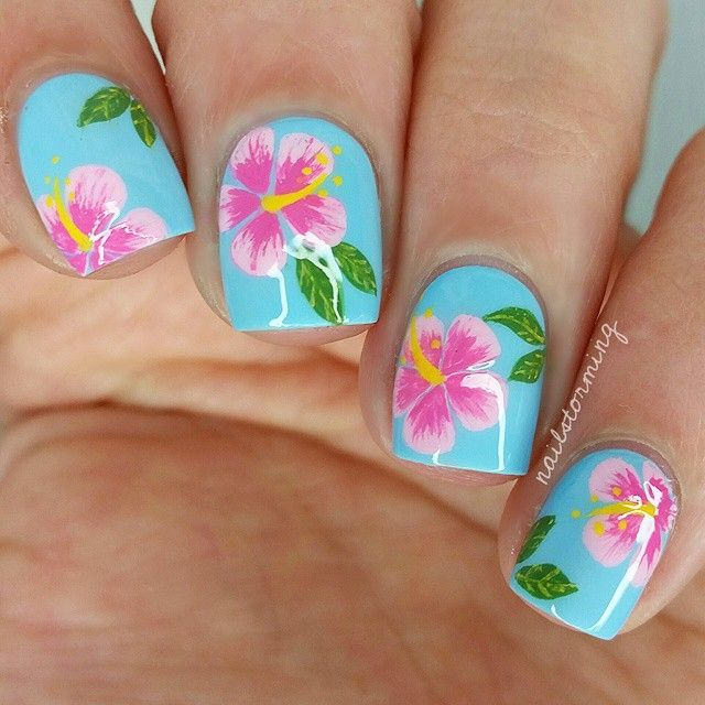 Flower Nail Art: 25+ Best Ideas About Hawaiian Flower Nails On Pinterest