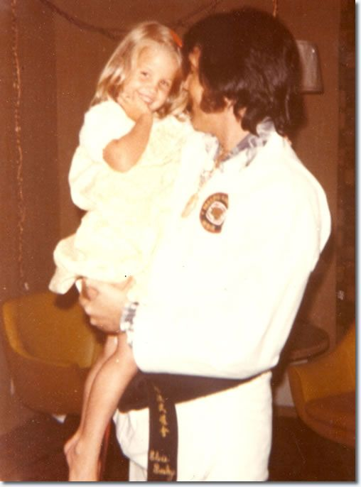 Elvis and Lisa Marie Presley : Atlanta : July 1, 1973.