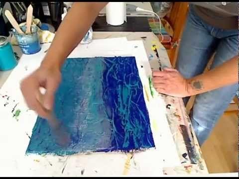 Come dipingere un bosco 1 al tramonto con colori acrilici su tela
