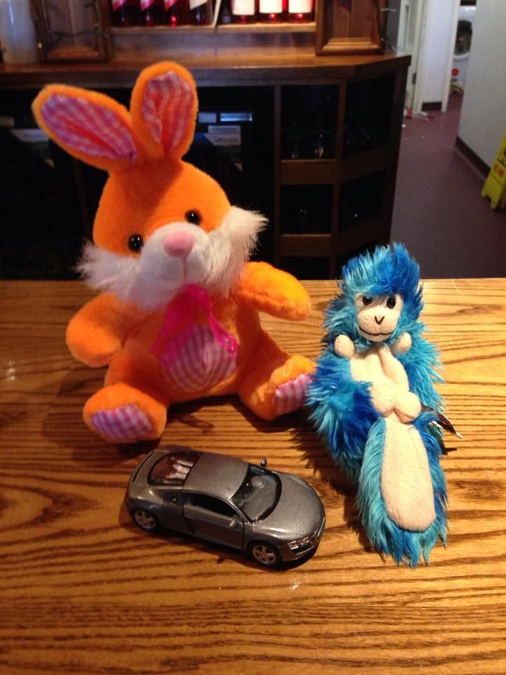 FOUND in Oldham/Saddleworth Manchester  These 2 cuddly toys, and orange and pink bunny and a blue and white squirrel? were left and found in the Kingfisher Restaurant in Greenfield, Oldham/Saddleworth. Contact: https://www.facebook.com/tracyMcbone or https://www.facebook.com/TeddyBearLostAndFound