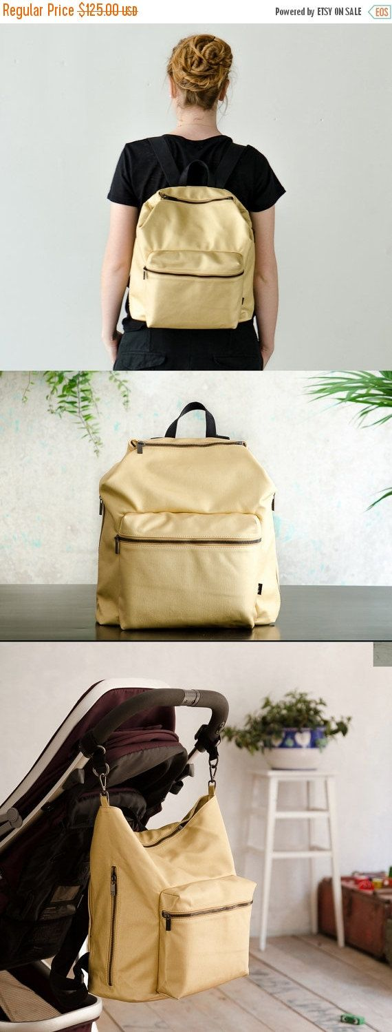 An urban and minimalistic, unisex bag, functional for every-day use. This diaper backpack has room for everything we believe is important to have when