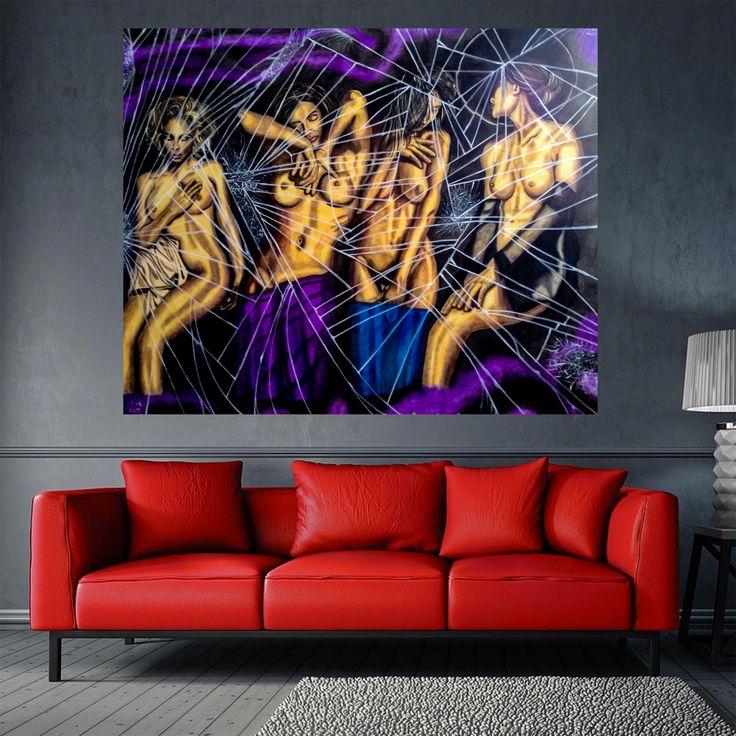 Erotica - Yağlı Boya Resim / Oil on Canvas by Huseyin Ak | #art #sanat #tasarım #dizayn #galeri #salon #contemporary #modern