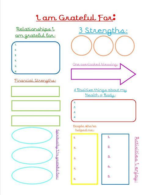 Do you keep a gratitude journal?  Free printable page.