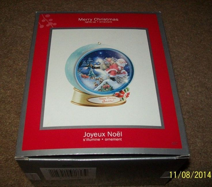 American Greeting Christmas Ornaments Part - 18: Heirloom Merry Christmas Light Up Ornament By American Greetings