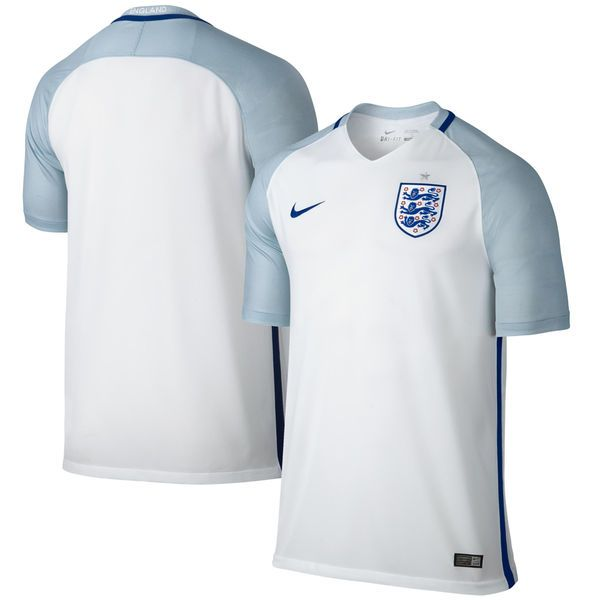 England Nike Home Stadium Performance Jersey - White/Light Blue - $89.99