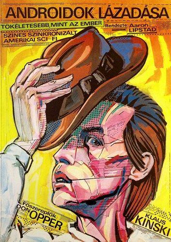 "Androidok lázadása (1982) ""Android""   Director: Aaron Lipstadt Hungarian vintage movie poster. Artist: Felvidéki András"