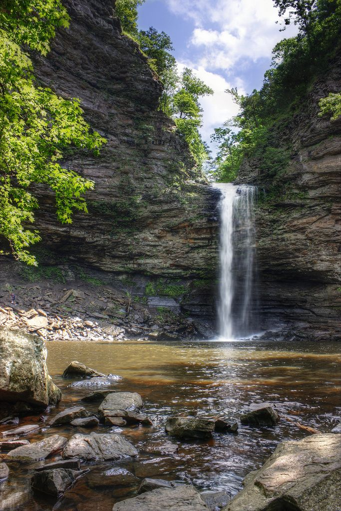 Cedar Falls at Petit Jean State Park outside of Conway, Arkansas by James Tatum