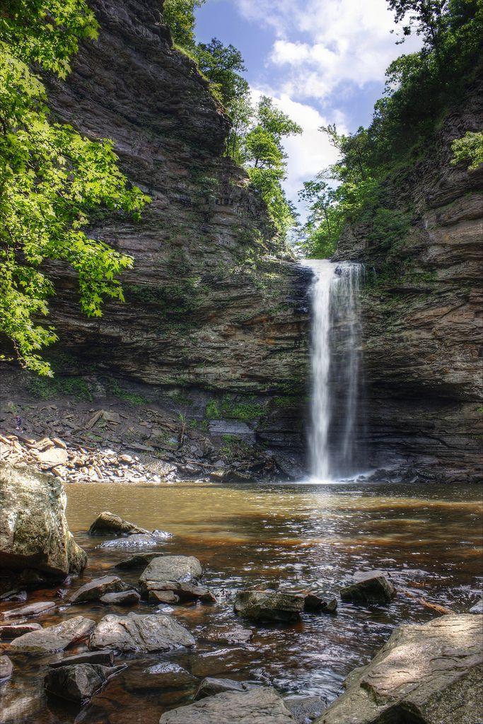 Cedar Falls at Petit Jean State Park outside of Conway, Arkansas by James Tatum