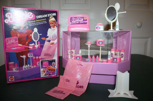 Little Girl Toys : Details about vintage barbie dream store makeup