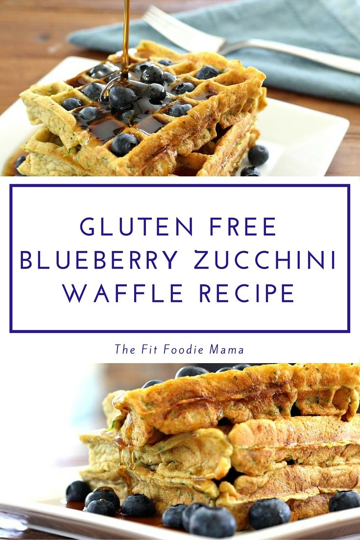 Gluten Free Blueberry Zucchini Waffles | The Fit Foodie Mama | Allergy ...