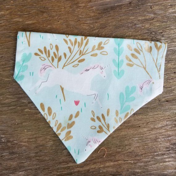 Pink Cupcakes and Floral Reversible Dog Bandana Slip-on Collar Dog Bandana Reversible Dog Scarf