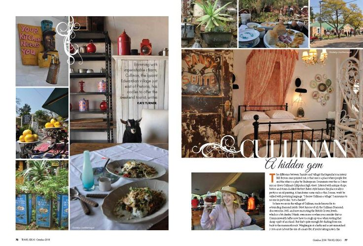 Magazine article: Cullinan and JanHarmsgat weddings and guest house